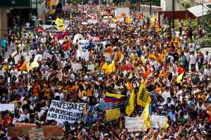 Oposicion estudiantes venezolanos